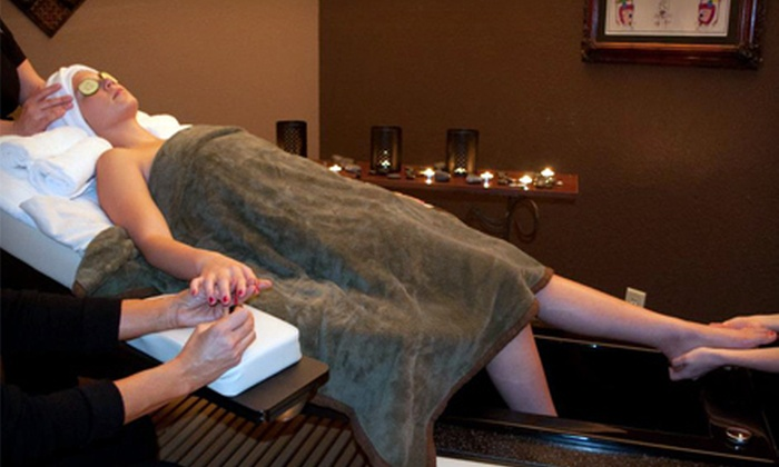 The Spa at Folawn's - San Antonio North: $99 for a 90-Minute Oasis Room Spa Package with Facial and Mani-Pedi at The Spa at Folawn's (Up to $245 Value)