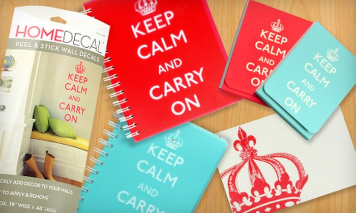 Graphique: Stationery, Cards, Journals, and Home Décor from Graphique (Half Off). Two Options Available.