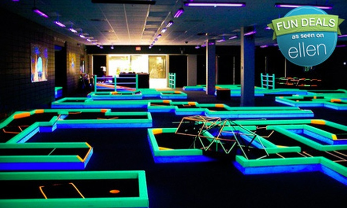 Lunar Mini Golf - Southide Estates: Cosmic Mini Golf for Two or a Family of Four at Lunar Mini Golf (Half Off)