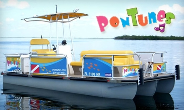 PonTunes - Upper Keys: $90 for a Half-Day Boat Rental from PonTunes (up to $275 Value)