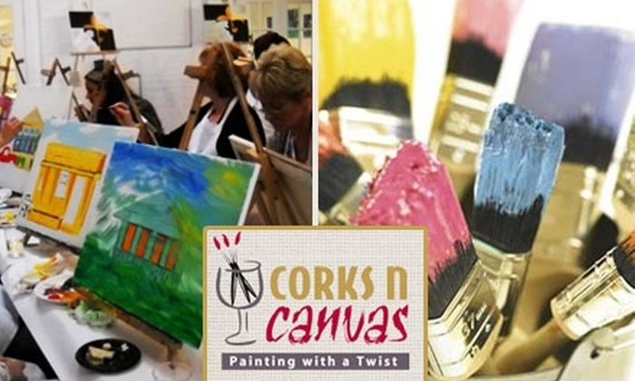 Corks N Canvas - Multiple Locations: $15 for a Two-Hour Painting Class at Corks N Canvas