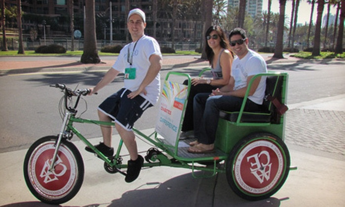 VIP Pedicab - San Diego: Pedicab Tour of the Gaslamp and Marina Districts for Two or Four from VIP Pedicab  (Up to 53% Off)