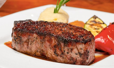 Four-Course Dinner with Wine for Two or Four at Wildfire Steakhouse & Wine Bar North York (Up to 51% Off)