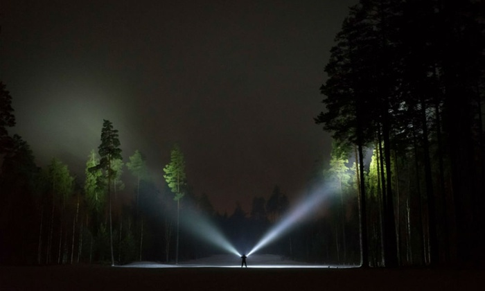 After Dark Light Trail At Chiswick House And Gardens In