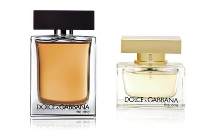 The One by Dolce & Gabbana Men's Eau de Toilette or Women's Eau de Parfum Spray. Multiple Sizes from $42.99–$52.99.