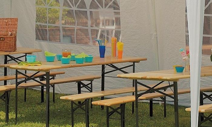 Panche E Tavoli Per Sagre.Set Sagra 2 M Tavolo E 2 Panche Groupon