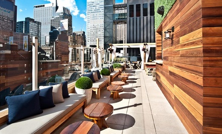 groupon daily deal - Stay at Sanctuary Hotel New York in Midtown Manhattan. Dates Available into April.
