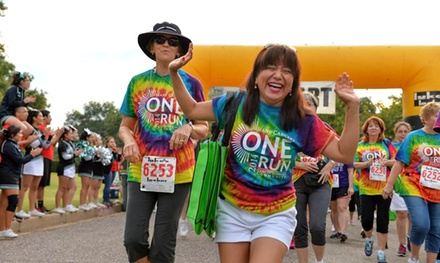 5K Entry for One or Two to One Run 2015 on Saturday, September 26 (Up to 48% Off)