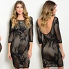 Midi Bodycon Dresses With Sheer Floral Overlay