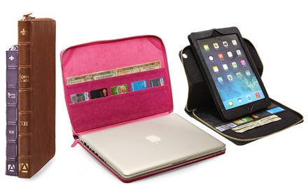 Aduro BookCase Folio and Stand Case for iPads or MacBooks from $14.99–$24.99