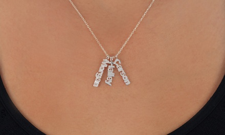 Necklace with Up to Three Custom Name-Plate Pendants from Monogramhub.com (Up to 75% Off)