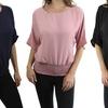 Women's Dolman Sleeve Blouson Top