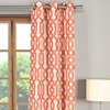 Geometric Faux Silk Panel Pair with Grommets