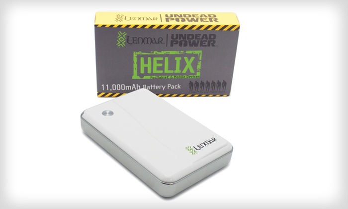 Lenmar Helix 11,000mAh Portable Power Pack with 3 USB Ports: Lenmar Helix 11,000mAh Portable Power Pack with 3 USB Ports
