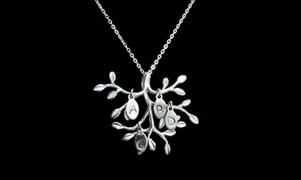 $29.99 for a Custom OliveBranch Necklace with Initial Leaves from NameJewelrySpot ($124.99 Value)