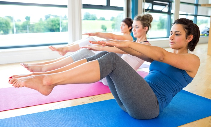 Fitness Rx - Multiple Locations: 10 or 20 Yoga, Pliates, or Boot-Camp Classes at Fitness Rx (Up to 64% Off)