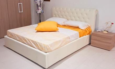 letto matrimoniale in ecopelle | groupon goods - Bissolo Casa Arredo Bagno