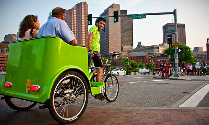 Boston Pedicab - South End: Personalized Pedicab Tour for up to Three Adults or Two Adults and Two Kids from Boston Pedicab (Up to 38% Off)