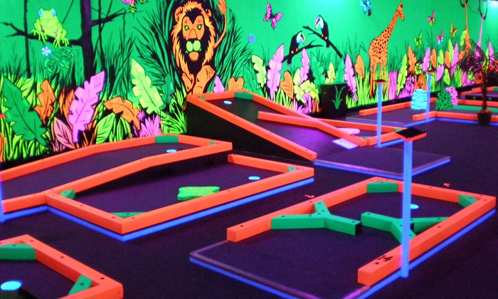 Opry Glow Golf - Northdale: Three Games of Mini Golf for Two, Four, or Six, or Mini Golf and Laser Maze for Two at Glowgolf (Up to 55% Off)