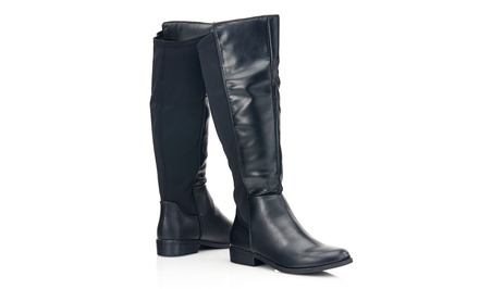 Sociology Women's Stretch Riding Boots | Groupon Exclusive