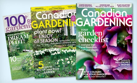 Gardening magazine canadian gardening groupon for Gardening 4 less groupon