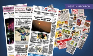 "Spokesman Review: $19.99 for a 52-Week Wednesday, Saturday and Sunday Subscription to ""The Spokesman-Review"" ($239 Value)"