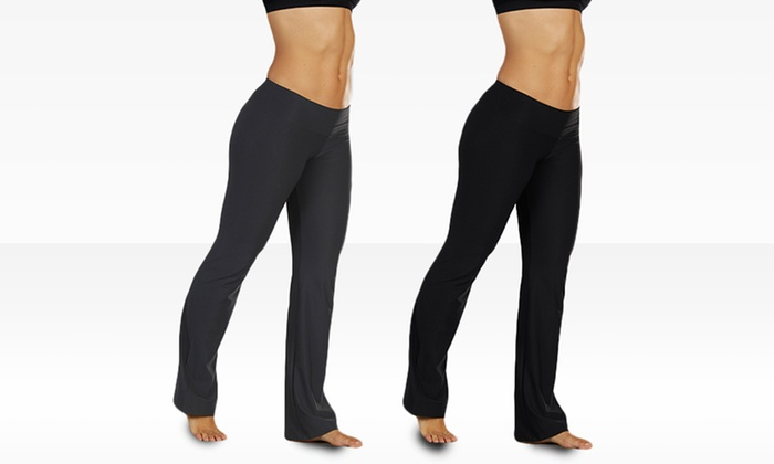 Bally Total Fitness Flat Waist Pants: Bally Total Women's Fitness Flat Waist Pants. Multiple Colors Available. Free Shipping and Returns.