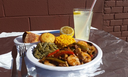 Cajun & Creole Supreme Combo Meal or Cajun & Creole Surf 'n' Turf Meal at Louisiana Creole Gumbo (47% Off)
