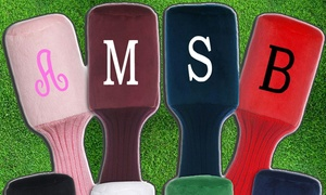 Embellish Accessories and Gifts: Monogrammed Golf-Club Covers and Towels from Embellish Accessories and Gifts (Up to 58% Off). Five Options Available.