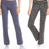 Printed Boot Cut Performance Pants by VOGO