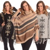 Contemporary Novelty Sweater Poncho