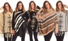 Contemporary Novelty Sweater Poncho: Contemporary Novelty Sweater Poncho