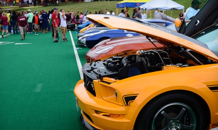 Redskins Rides Car Show - Beaumeade: Redskins Rides Car Show with Games and Appearances by Players and Cheerleaders (Half Off). Two Options Available.