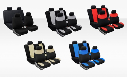 Set of Universal-Fit Car-Seat Covers with Sleek, Modern Design