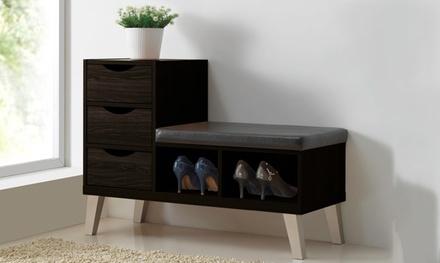 Modern Shoe Storage Cabinet Groupon Goods