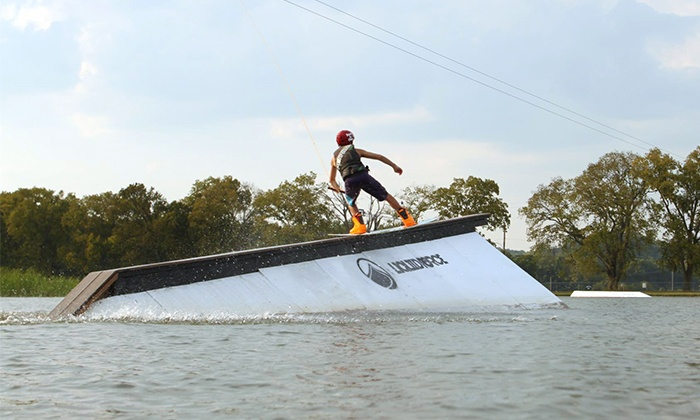 Cable-Wakeboarding Party with Gear Rental for Up to 5, 10, or 20 at Wake Nation Houston (Up to 51% Off)