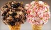 Marble Slab Creamery - Shellmont: Two or Four Medium Ice-Cream Cones with Two Mix-Ins Each at Marble Slab Creamery (Half Off)