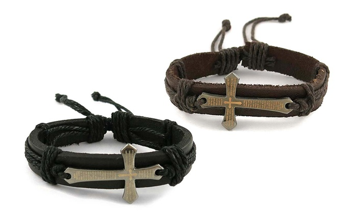 Prayer Cross Bracelets in Genu...