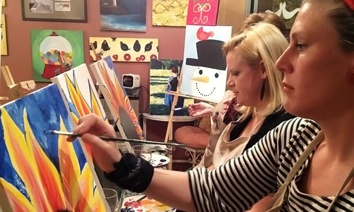 The Royal Canvas Painting Parlor - Alamo Heights: Children's Painting Class or Adult BYOB Painting Class at The Royal Canvas Painting Parlor (Up to 51% Off)
