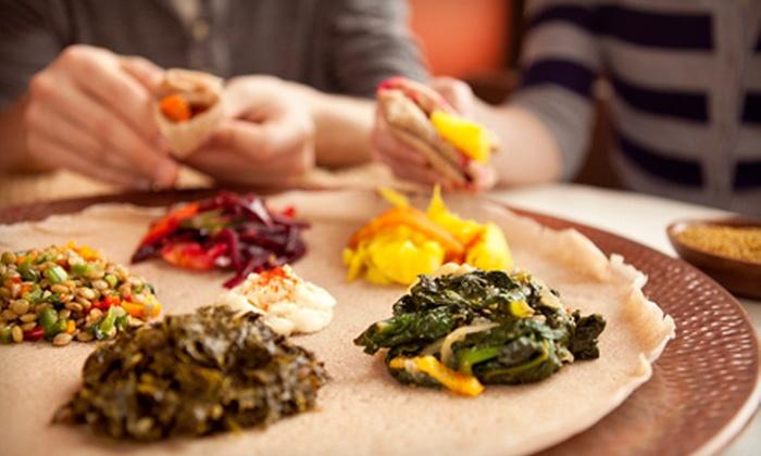 Blue Nile Ethiopian Restaurant - Beasley: $10 for $20 Worth of Ethiopian Cuisine at Blue Nile Ethiopian Restaurant