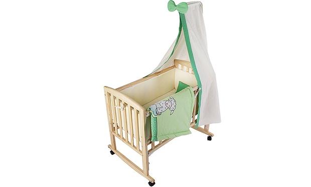 In babywiege auch als stubenwagen oder beistellbett nutzbar