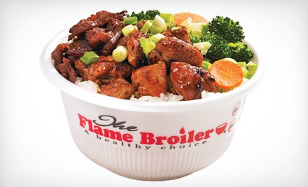 $10 for $20 for Quick-Service Healthy Asian Food at The Flame Broiler
