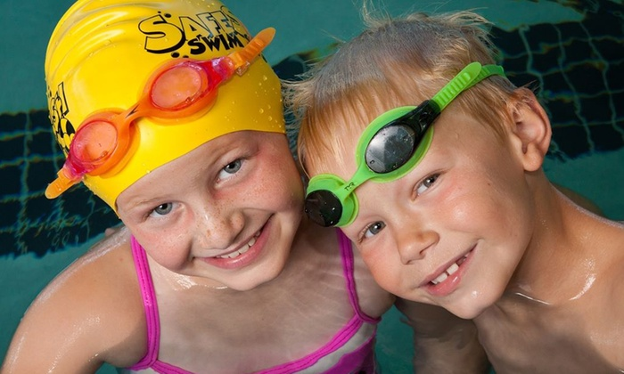 SafeSplash Swim School - Multiple Locations: One-Month Swimming-Lesson Package for One or Two at SafeSplash Swim School (Up to 57% Off)