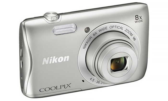 Nikon Coolpix S3700 20.1MP 720p Digital Camera with Wi-Fi (Manufacturer Refurbished)