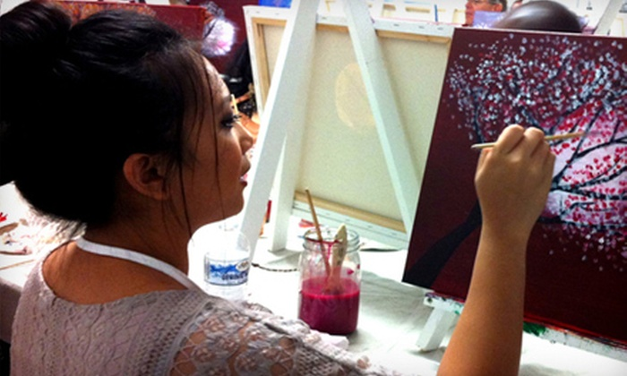 Brush Party - Downtown Phoenix: BYOB Painting Class for Two or Four at Brush Party (Up to 54% Off)