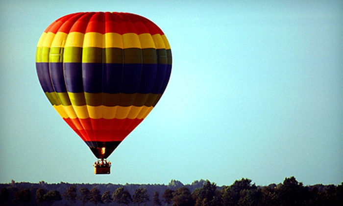 Balloon AD-Ventures - Kansas City: $315 for a Hot-Air-Balloon Flight with a Traditional Toast for Two from Balloon AD-Ventures ($550 Value)