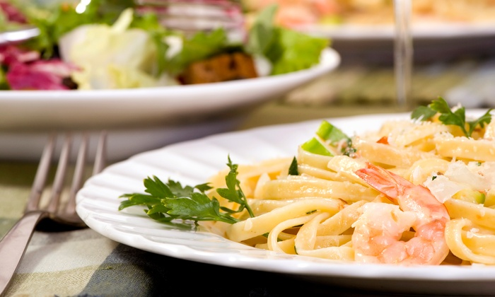Pasta Pelican - Alameda: Italian Dinner for Two or Four with Appetizers, Entrees, Wine, and Dessert at Pasta Pelican (Up to 51% Off)