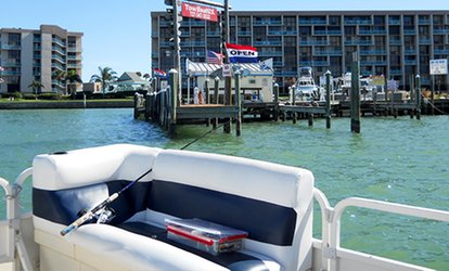 image for $130 for 2-Hour Dolphin Tour Pontoon-Boat Rental for Up to 8 at Erika's Bikes ($300 Value)