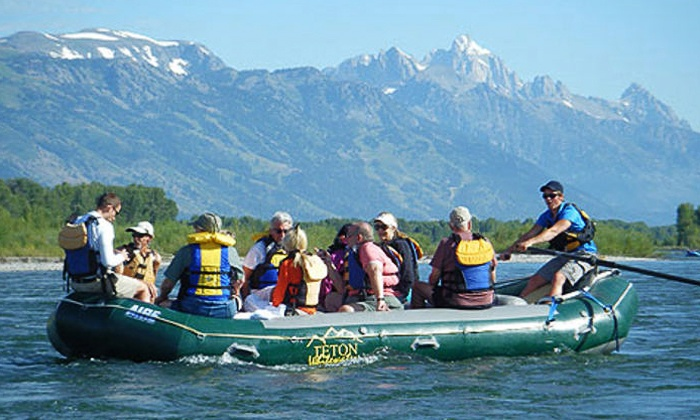 Teton Whitewater LLC - Jackson Hole: Four-Hour Scenic Jackson Hole Rafting Trip for One or Four from Teton Whitewater (Up to 58% Off)