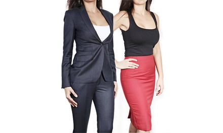 $699 for Custom Women's Suit at Empire Customs ($1,385 Value)